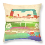 Bmw 2002 Front Watercolor 3 Throw Pillow by Naxart Studio