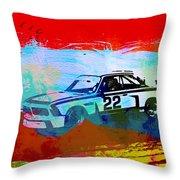 Bmw 3.0 Csl Racing Throw Pillow by Naxart Studio