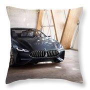 Bmw Concept 8 Series 4k Throw Pillow