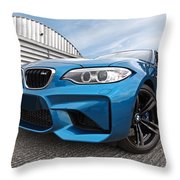 Bmw M2 Coupe Throw Pillow