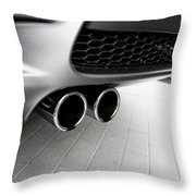 Bmw M3 Exhaust  Throw Pillow by Aaron Berg