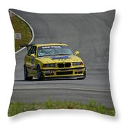 Bmw M3 Tire Rack Throw Pillow