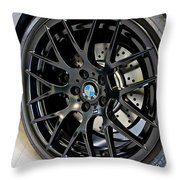 Bmw M3 Wheel Throw Pillow by Aaron Berg