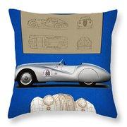 Bmw Mille Miglia Poster Throw Pillow