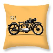 The R24 Motorcycle Throw Pillow