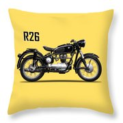 The R26 Motorcycle Throw Pillow by Mark Rogan
