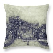 Bmw R32 - 1919 - Motorcycle Poster 1 - Automotive Art Throw Pillow