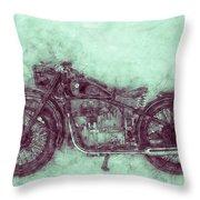 Bmw R32 - 1919 - Motorcycle Poster 3 - Automotive Art Throw Pillow