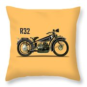 The R32 Motorcycle Throw Pillow