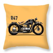 The R47 Motorcycle Throw Pillow