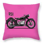 The R51 Motorcycle Throw Pillow