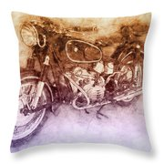 Bmw R60/2 - 1956 - Bmw Motorcycles 2 - Vintage Motorcycle Poster - Automotive Art Throw Pillow