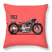 The R62 Motorcycle Throw Pillow