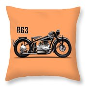 The R63 Motorcycle Throw Pillow