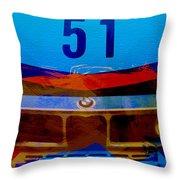 Bmw Racing Colors Throw Pillow
