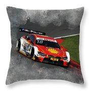 B M W Racing Throw Pillow