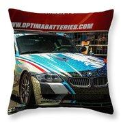 Bmw Z4 E86 Art Car Throw Pillow