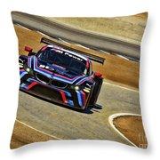 Bmw Z4 Gte Gt Le Mans Tudor Throw Pillow