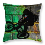 Bmx II Throw Pillow