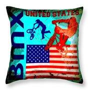 Bmx United States Throw Pillow