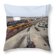 Bnsf Northtown Yard 6 Throw Pillow
