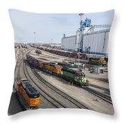 Bnsf Northtown Yard 8 Throw Pillow