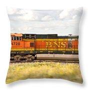 Bnsf Railway Engine Throw Pillow