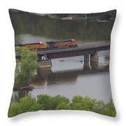 Bnsf Train 6686 A Throw Pillow