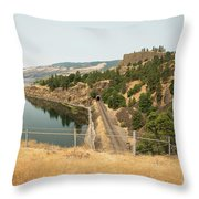 Bnsf Tunnel Throw Pillow