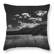 Bnw Lago De Coatepeque - El Salvador V Throw Pillow