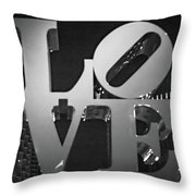 Bnw Philly Love 0218b Throw Pillow