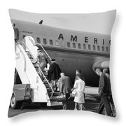 Boarding American Airlines Throw Pillow