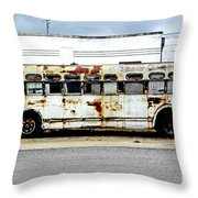 Boarding In Five Throw Pillow