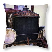 Boarding The Concord Throw Pillow