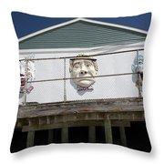 Boardwalk Clowns Throw Pillow