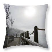 Boardwalk Dawn Throw Pillow