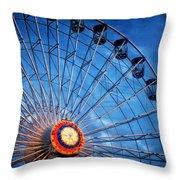 Boardwalk Ferris Wheel At Dusk Throw Pillow