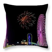 Boardwalk Fieworks At The Jersey Shore Throw Pillow
