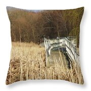 Boardwalk II Throw Pillow by Anna Villarreal Garbis