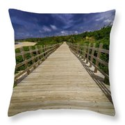 Boardwalk In Color Throw Pillow