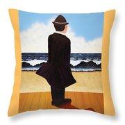 Boardwalk Man Throw Pillow