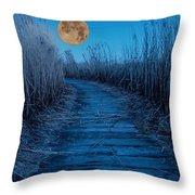 Boardwalk Moon Throw Pillow
