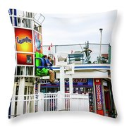 Boardwalk Ride Throw Pillow