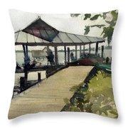 Boardwalk Sarasota Throw Pillow