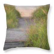 Boardwalk Sunrise Throw Pillow