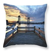 Boardwalk Sunset Throw Pillow by Eric Gendron
