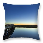 Boardwalk To Beach Throw Pillow