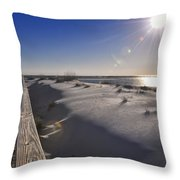 Boardwalk To The Gulf Throw Pillow