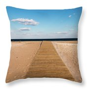 Boardwalk To The Ocean Throw Pillow