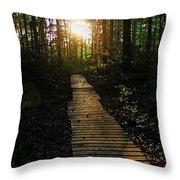 Boardwalk To The Sun Throw Pillow
